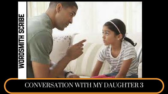 Conversation with my daughter 3