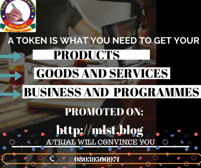 A TOKEN IS WHAT YOU NEED TO GET YOUR