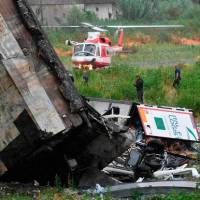 MLST NEWS:At least 11 people confirmed dead as bridge collapses on motorway in northern Italy