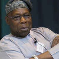 OLUSEGUN OBASANJO IN VIEW.