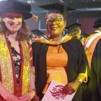 How Ghana's former first lady, Lordina Mahama was  awarded Masters of Laws (LLM) degree.