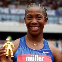 Women's 100 meters won by Fraser-Pryce  in  10.78 seconds at the London Diamond League on Sunday.