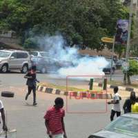 How Nigeria Police dispersed shiites procession in Abuja yesterday.