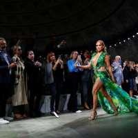 J.Lo's Versace dress returns for her SNL monologue