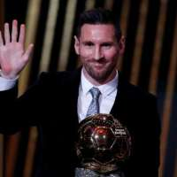 Congratulations to Lionel Messi for the sixth time.